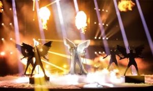 Norway's TIX performance had plenty pf pyro